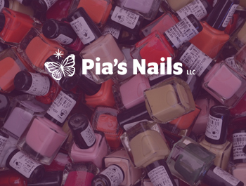 Pia's Nails - case study - Website Redesign